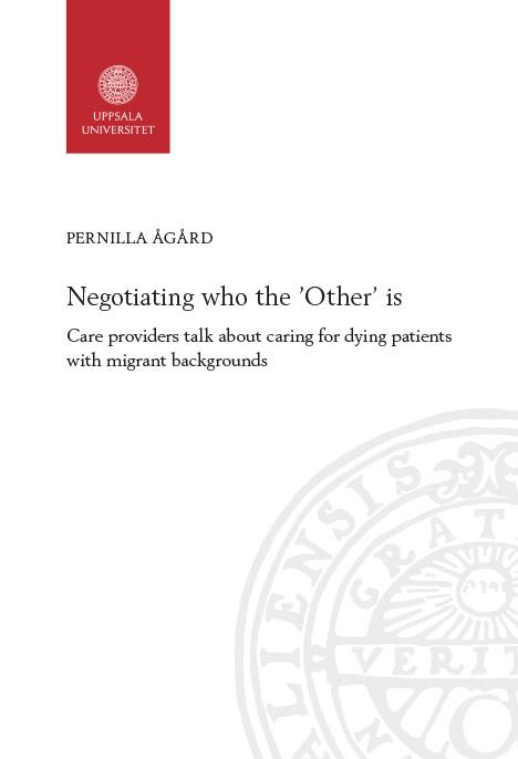 Photo of the book cover for Negotiating who the 'Other' is