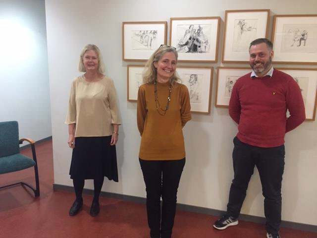 Photo of the project team, from left to right: Annika Taghizadeh Larsson, Anna Olaison, and Johannes Hjalmarsson Österholm